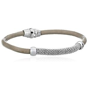 Fossil silver and gray Ball Shot Chain Bracelet